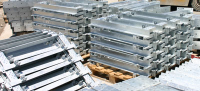 Stacked Galvanized Pieces