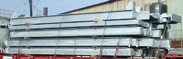 Stacked Galvanized Beams